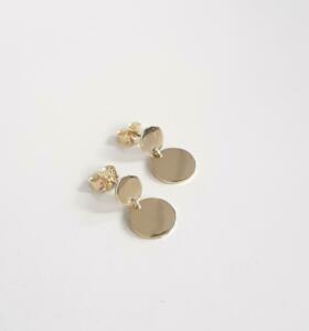 14 krt. gouden oorstekers € 345,00