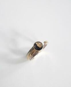 14 krt. gouden ring met zilver € 425,00