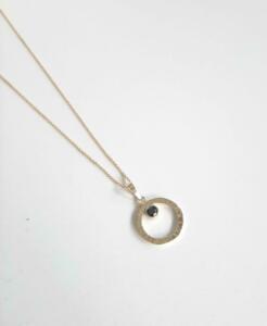 14 krt. gouden hanger met zwarte diamant € 395,00 excl. collier