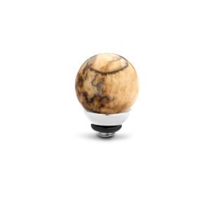 Ball geo Zilver 12mm in Howlite 8mm in Howlite€25,00