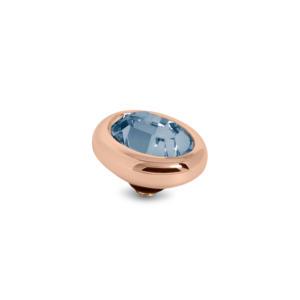 Ovaal 8mm Roodgoud € 20,00 in de kleurenAmethistBlack DiamondCrystalMontana