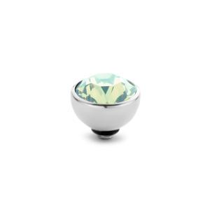 Rond 8 mm Zilver € 20,00 in de kleurenAqua GreenFern GreenPinkChrysoliteAubergineBlossemChampagneCrystaMint